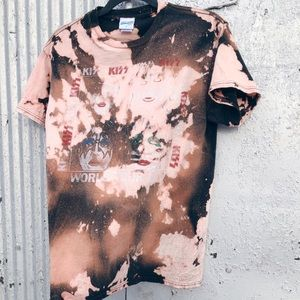 Hand-made bleached graphic tee